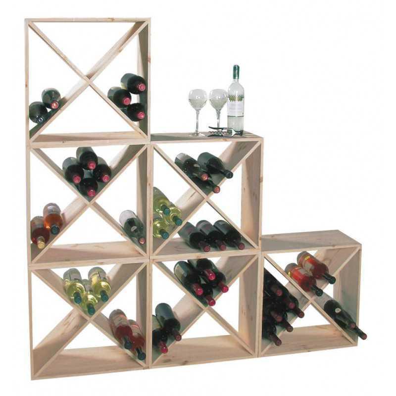 flessenrek modulair hout 24 flessen