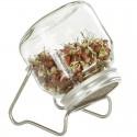 Kiemglas 750 ml met rvs houder